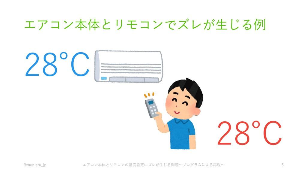 エアコン本体とリモコンでズレが生じる例 @munieru_jp エアコン本体とリモコンの温度設...