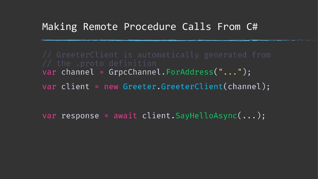 Making Remote Procedure Calls From C#
