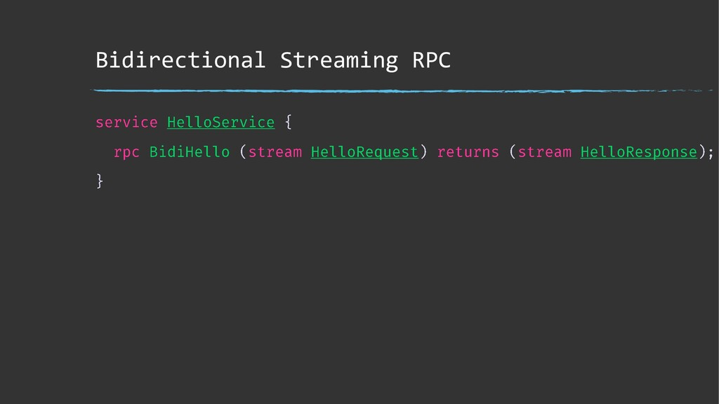Bidirectional Streaming RPC