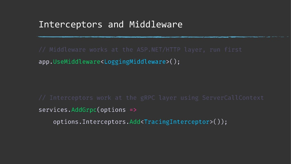 Interceptors and Middleware
