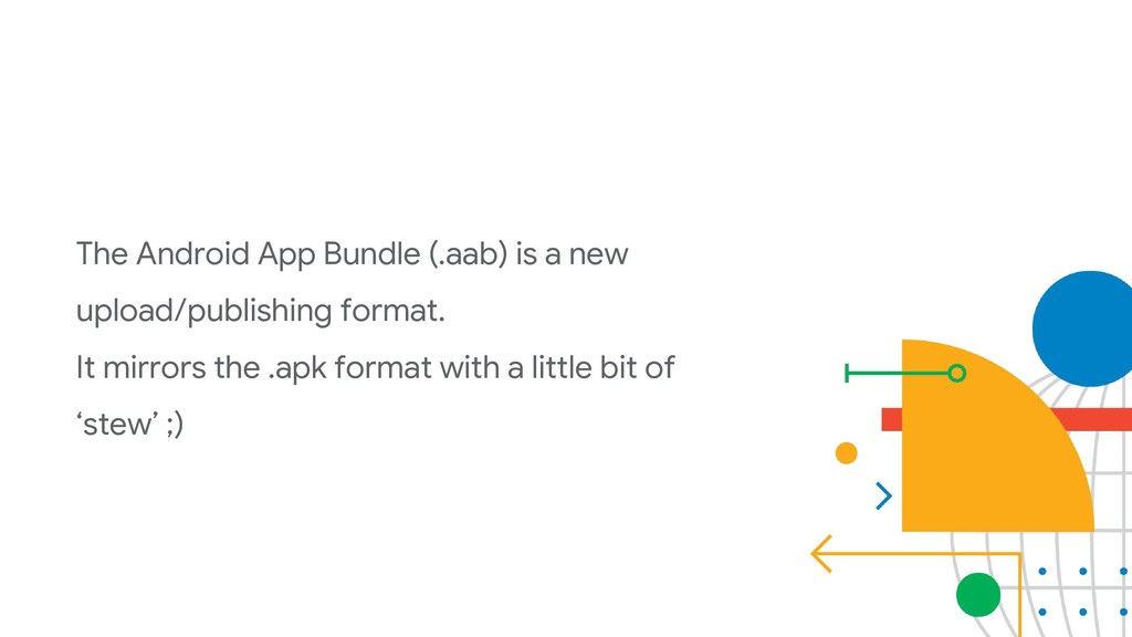 The Android App Bundle (.aab) is a new upload/p...