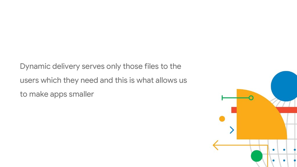 Dynamic delivery serves only those files to the...