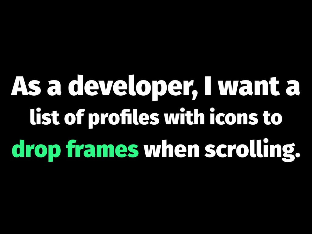 As a developer, I want a list of profiles with i...