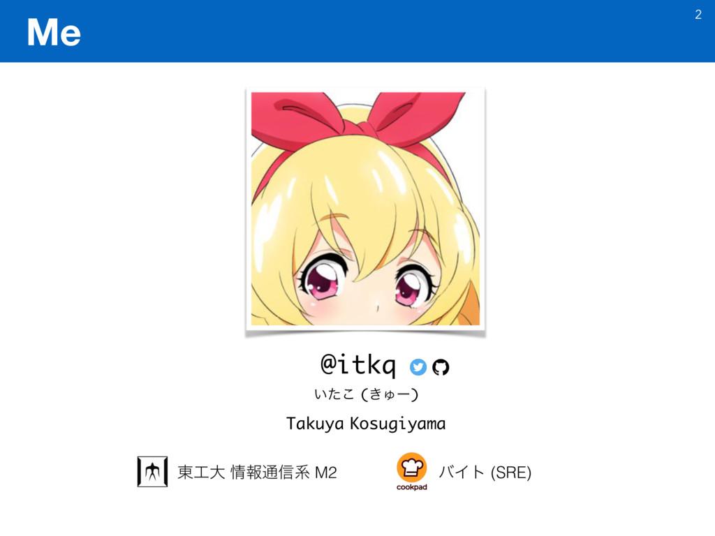 Me 2 @itkq Takuya Kosugiyama ౦େ ใ௨৴ܥ M2 όΠτ (...