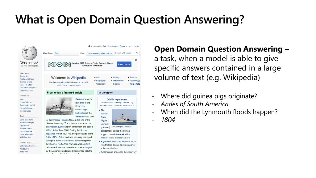 What is Open Domain Question Answering? Open Do...