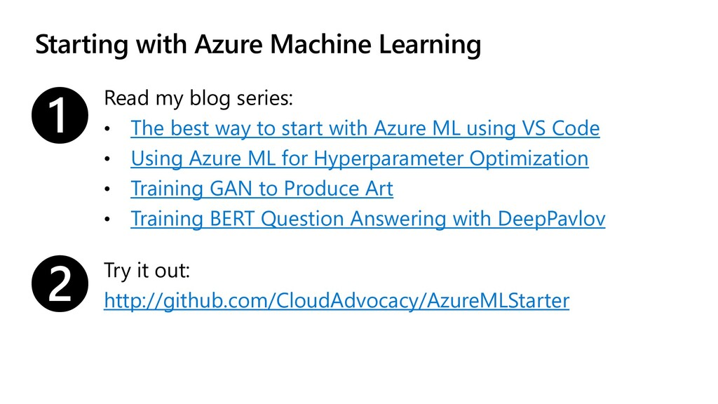 Starting with Azure Machine Learning Read my bl...