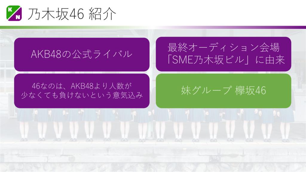 乃木坂46 紹介 AKB48の公式ライバル 最終オーディション会場 「SME乃木坂ビル」に由来...