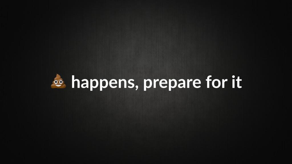 happens, prepare for it