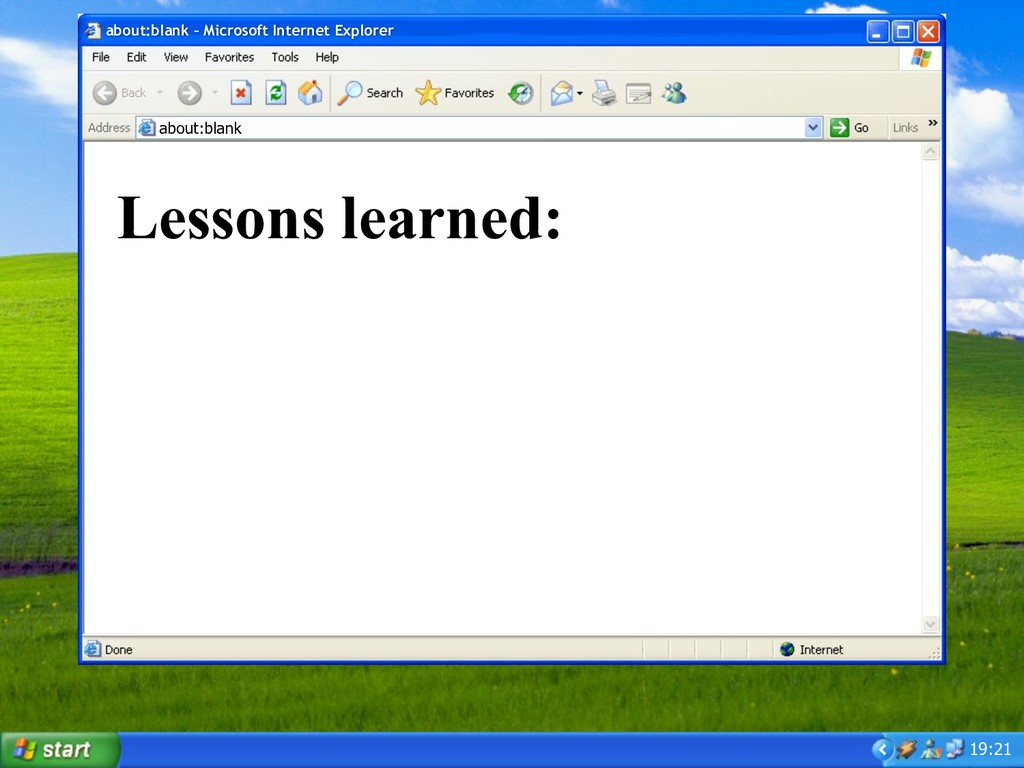 19:21 Lessons learned: about:blank – Microsoft ...