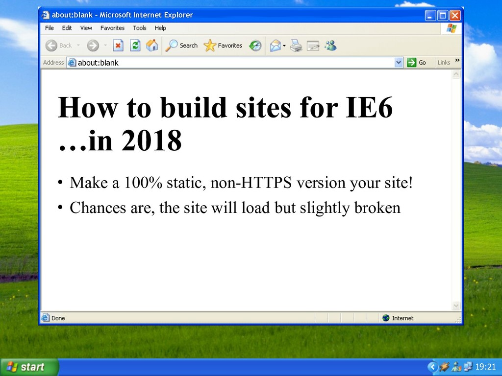 19:21 about:blank – Microsoft Internet Explorer...