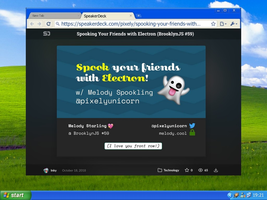 19:21 https://speakerdeck.com/pixely/spooking-...