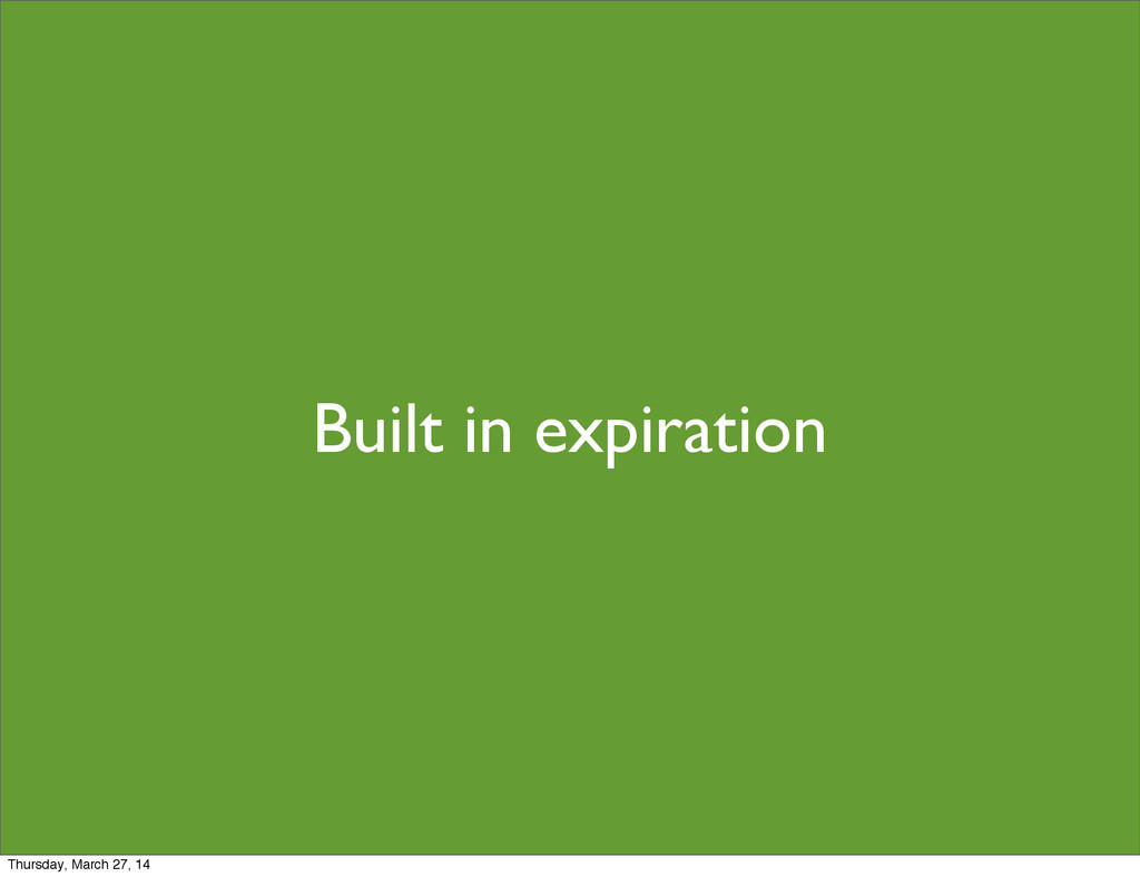 Built in expiration Thursday, March 27, 14