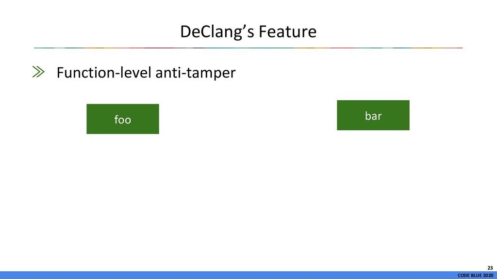 CODE BLUE 2020 ≫ Function-level anti-tamper DeC...
