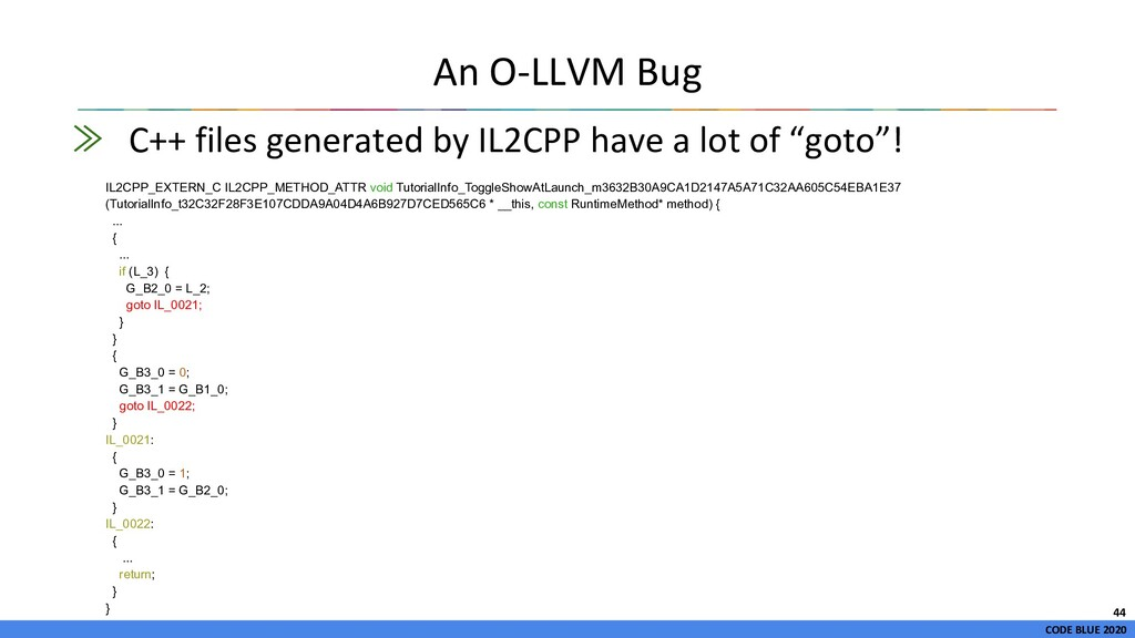 CODE BLUE 2020 ≫ C++ files generated by IL2CPP ...