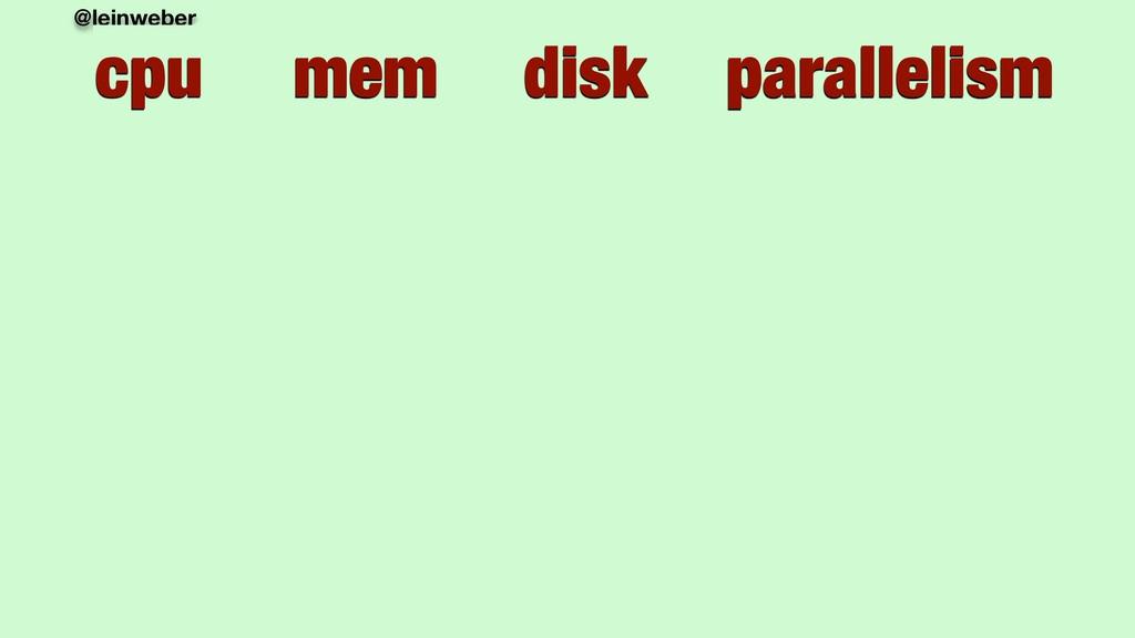 @leinweber cpu mem disk parallelism cpu mem dis...