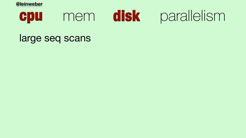 @leinweber cpu mem disk parallelism large seq s...