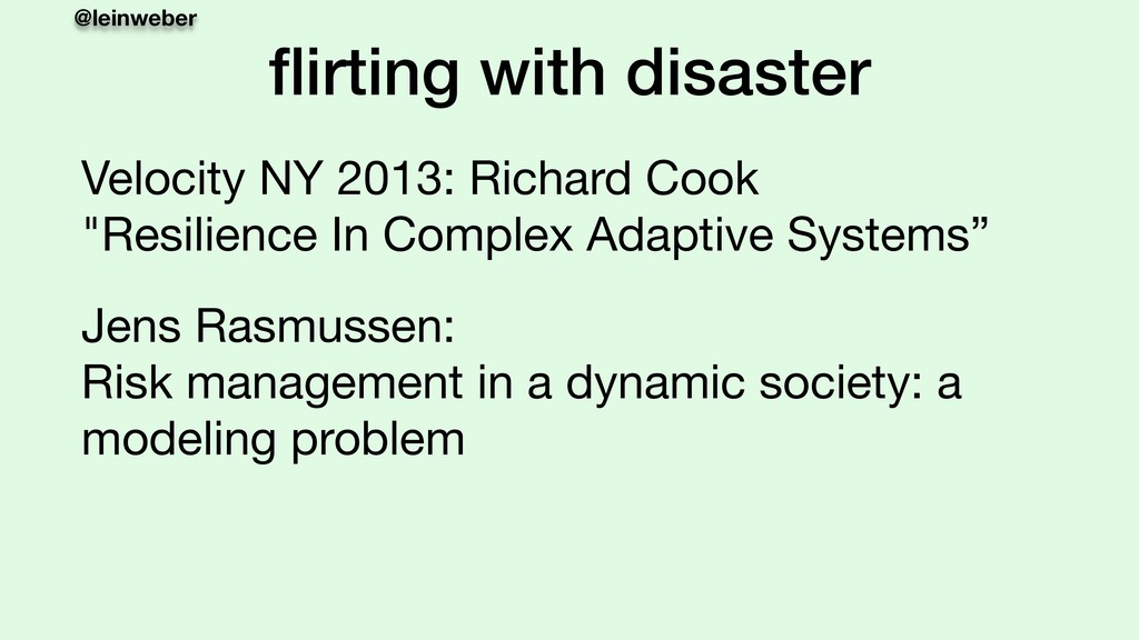 @leinweber flirting with disaster Velocity NY 20...