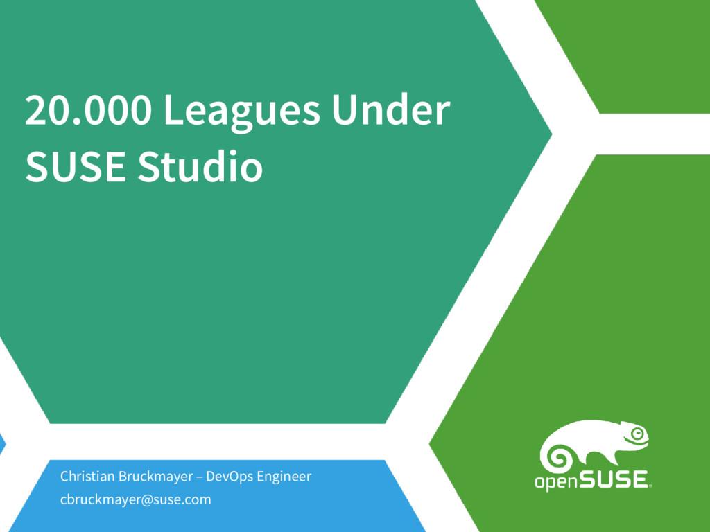 20.000 Leagues Under SUSE Studio Christian Bruc...