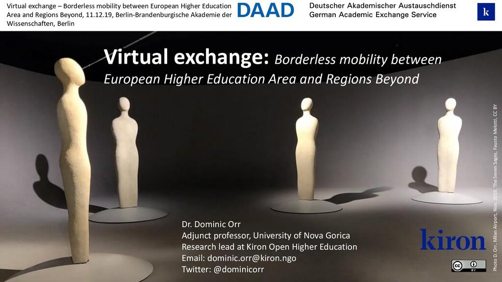 Virtual exchange – Borderless mobility between ...