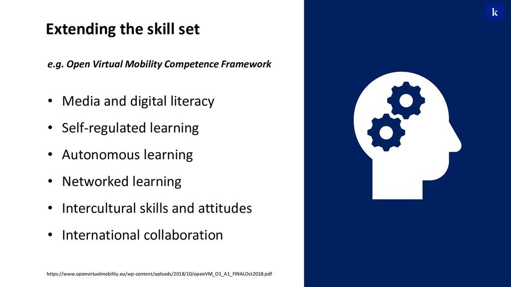 e.g. Open Virtual Mobility Competence Framework...