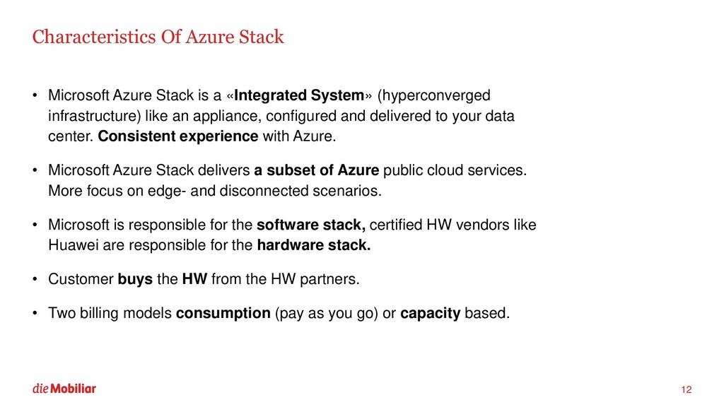 Characteristics Of Azure Stack • Microsoft Azur...