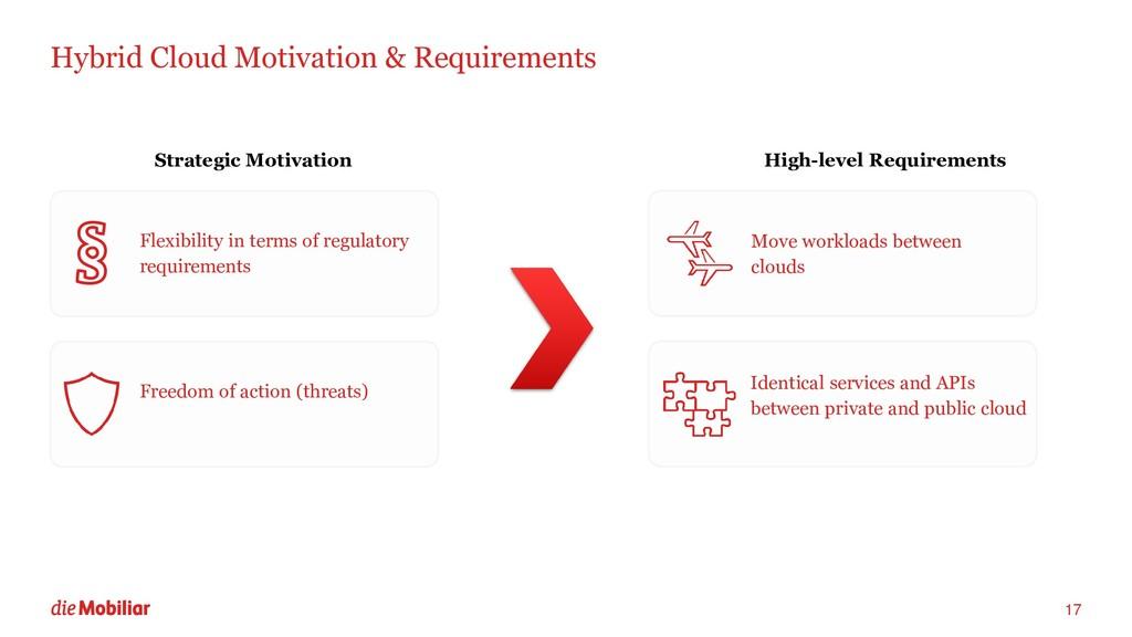 Hybrid Cloud Motivation & Requirements 17 Flexi...