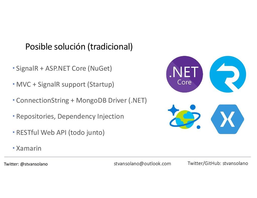 Posible solución (tradicional)  SignalR + ASP....