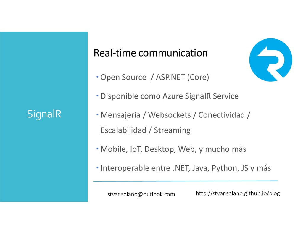 SignalR Real-time communication http://stvansol...