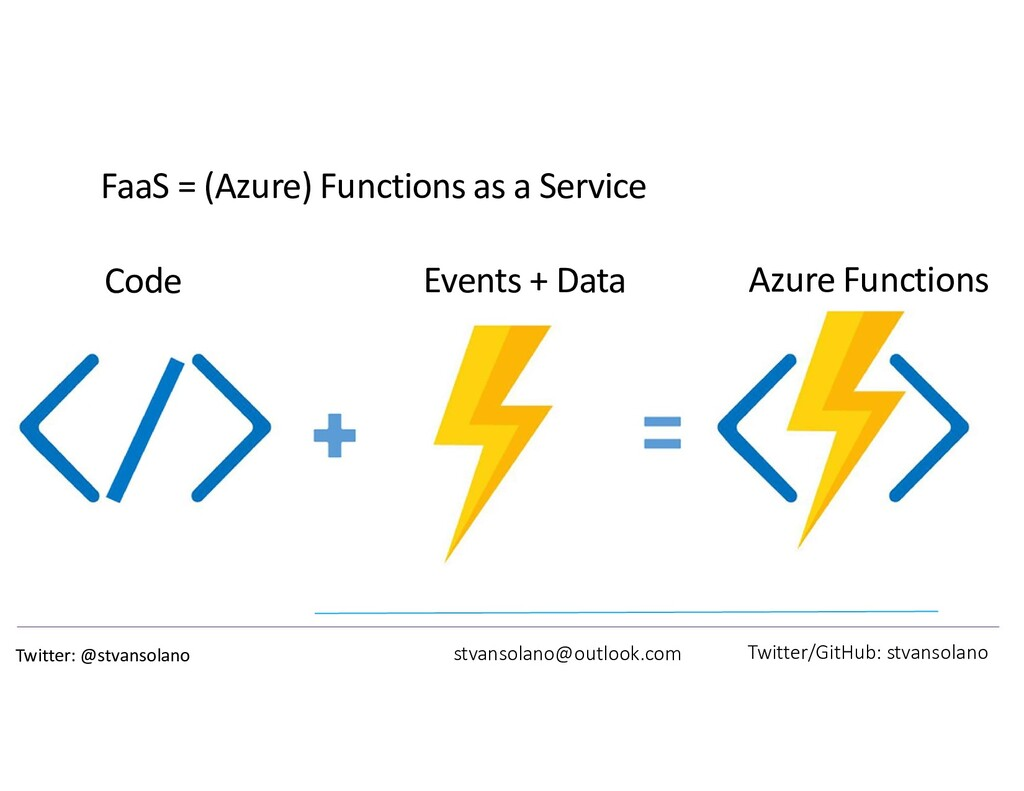 FaaS = (Azure) Functions as a Service stvansola...