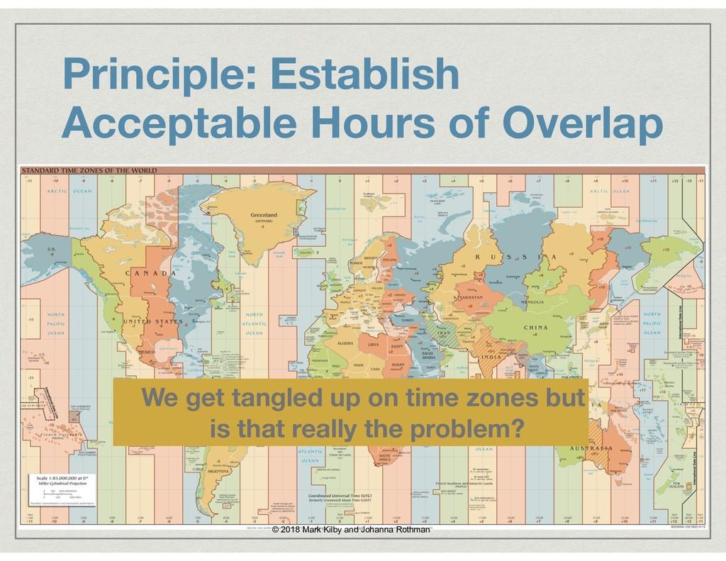 Principle: Establish Acceptable Hours of Overla...