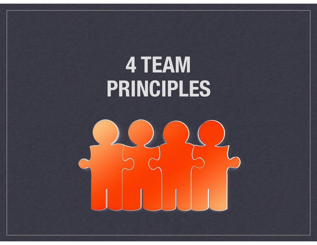 4 TEAM PRINCIPLES