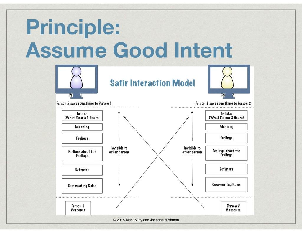 Principle:  Assume Good Intent Satir Interacti...