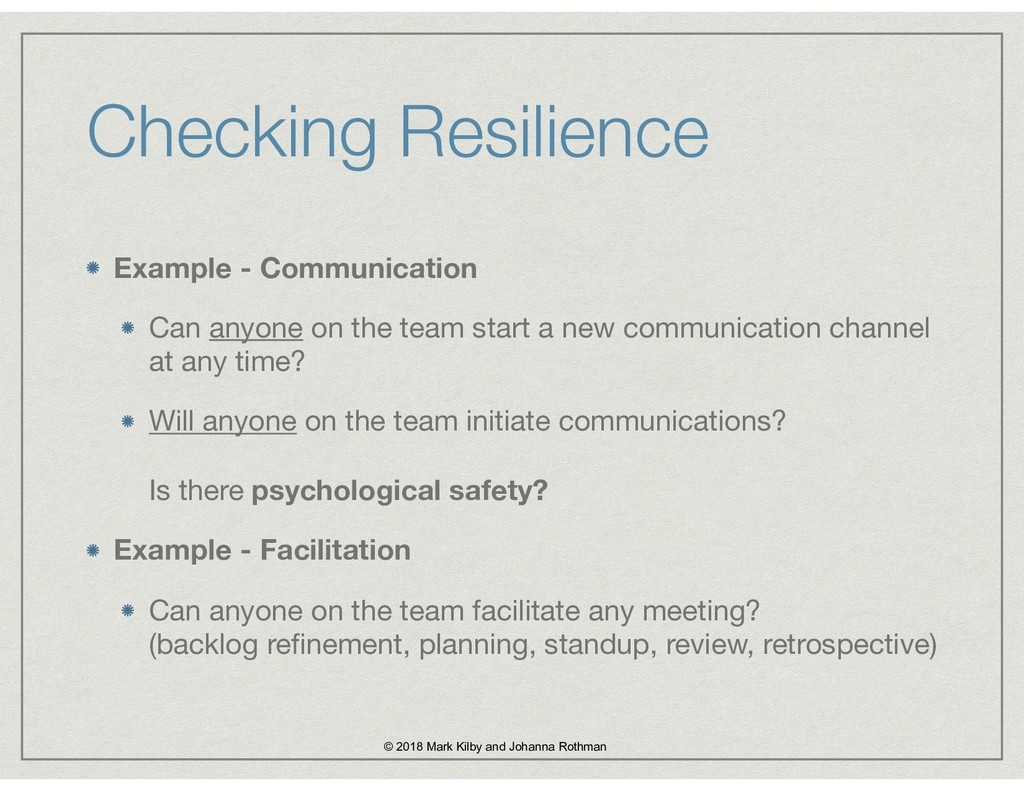 Checking Resilience Example - Communication Can...