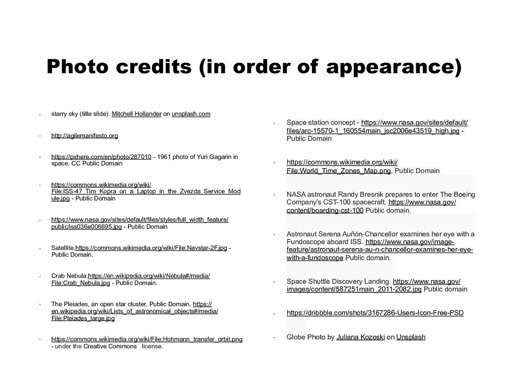 Photo credits (in order of appearance) - starry...