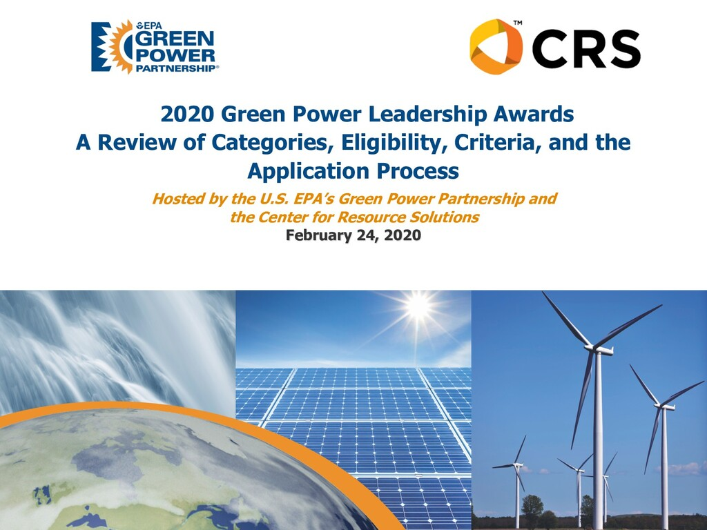 2020 Green Power Leadership Awards A Review of ...