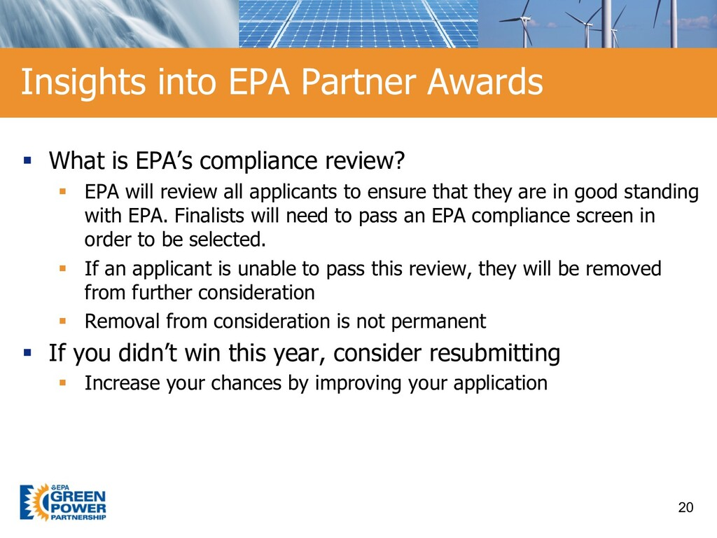 § What is EPA's compliance review? § EPA will r...