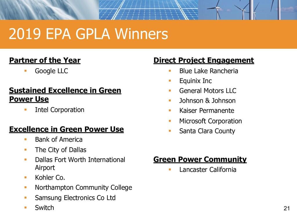 2019 EPA GPLA Winners Partner of the Year § Goo...