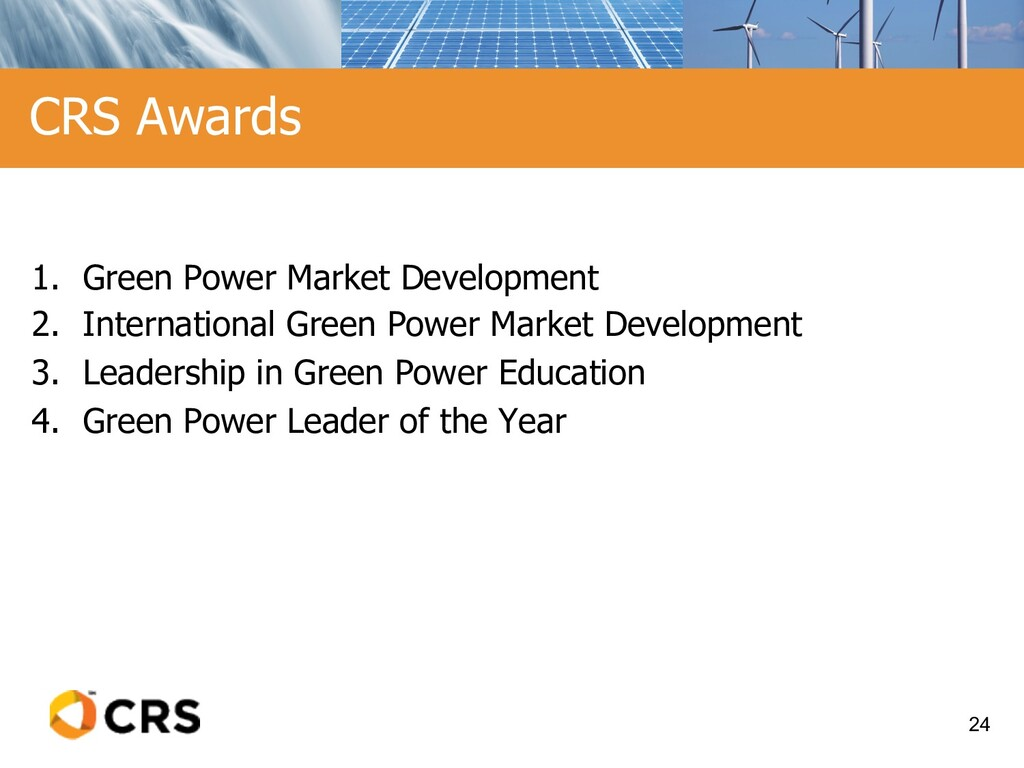 1. Green Power Market Development 2. Internatio...