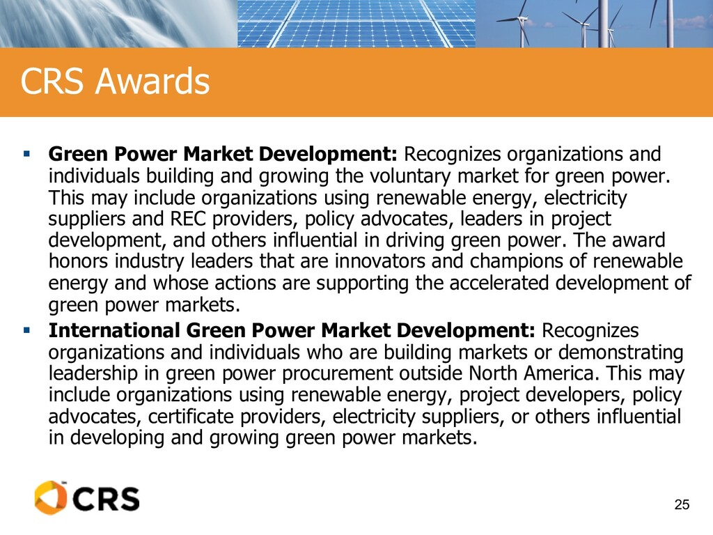 § Green Power Market Development: Recognizes or...