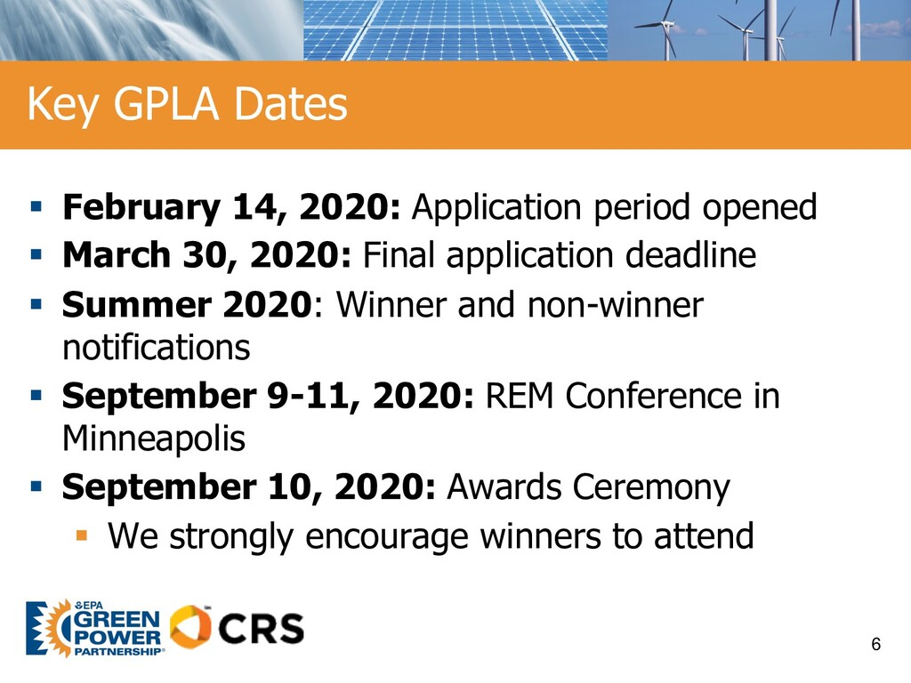 § February 14, 2020: Application period opened ...