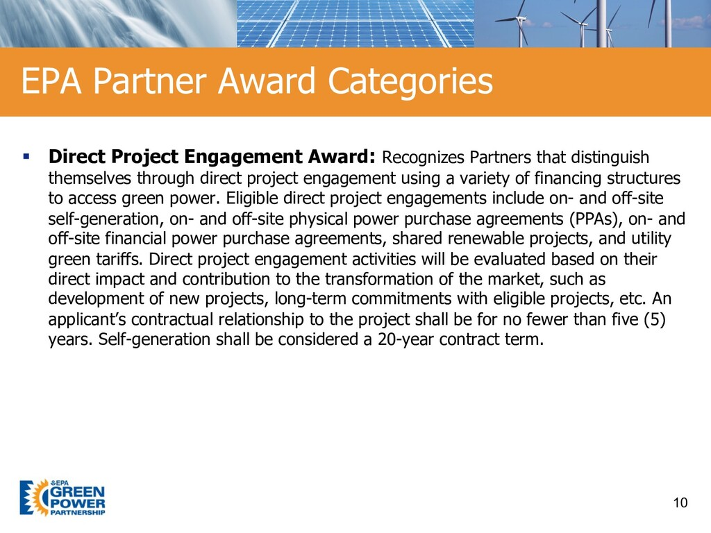§ Direct Project Engagement Award: Recognizes P...