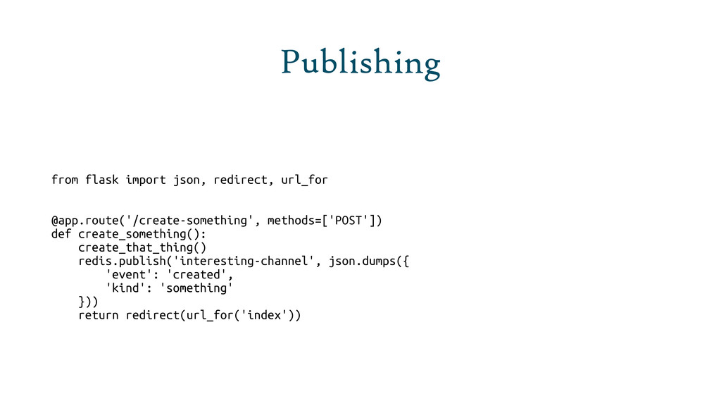 Publishing from flask import json, redirect, ur...
