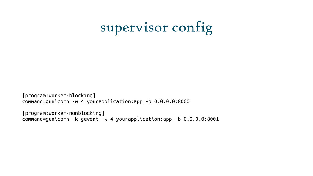 supervisor config [program:worker-blocking] com...