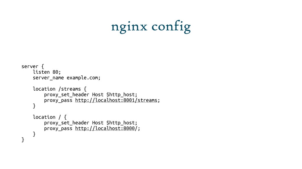 nginx config server { listen 80; server_name ex...
