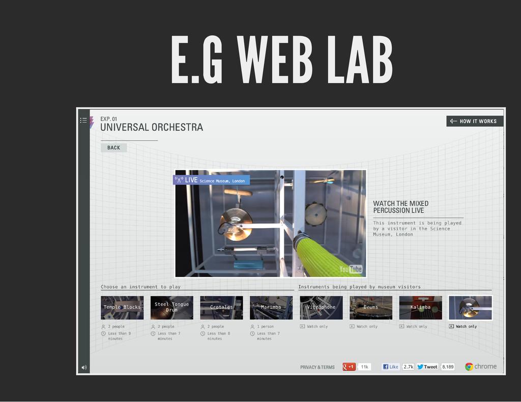 E.G WEB LAB