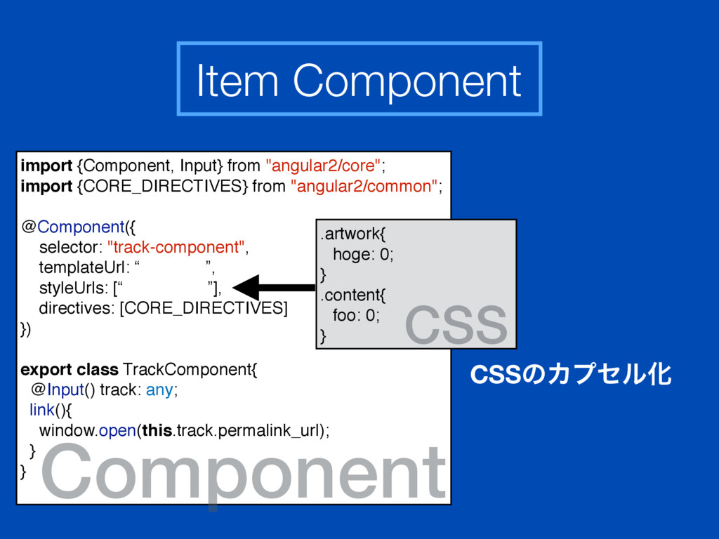 """import {Component, Input} from """"angular2/core"""";..."""