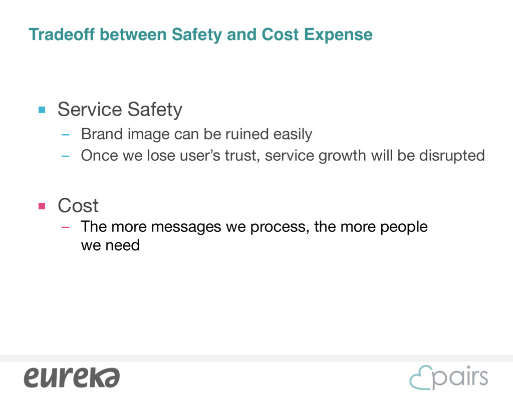 Tradeoff between Safety and Cost Expense ■ Serv...