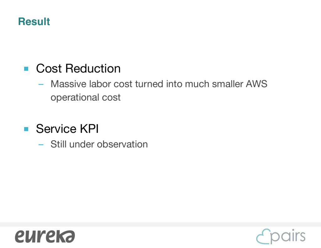 Result ■ Cost Reduction  – Massive labor cost t...