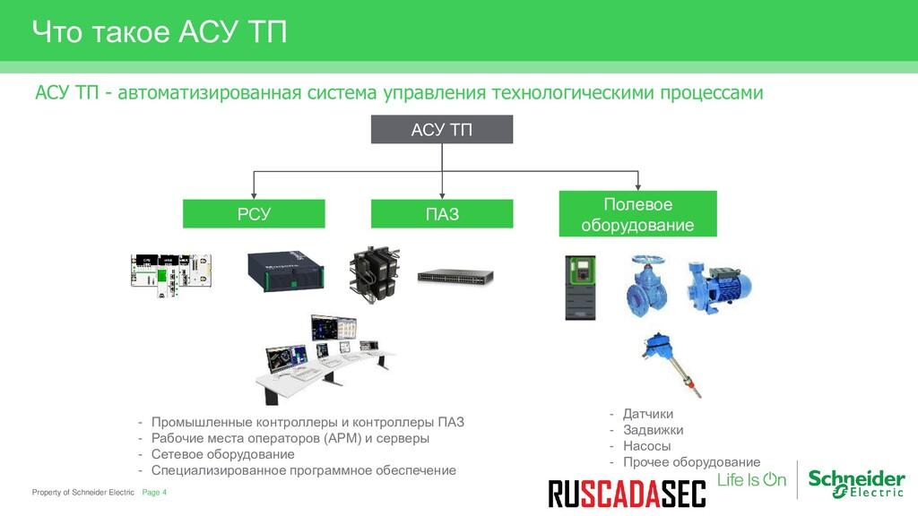 Property of Schneider Electric Что такое АСУ ТП...