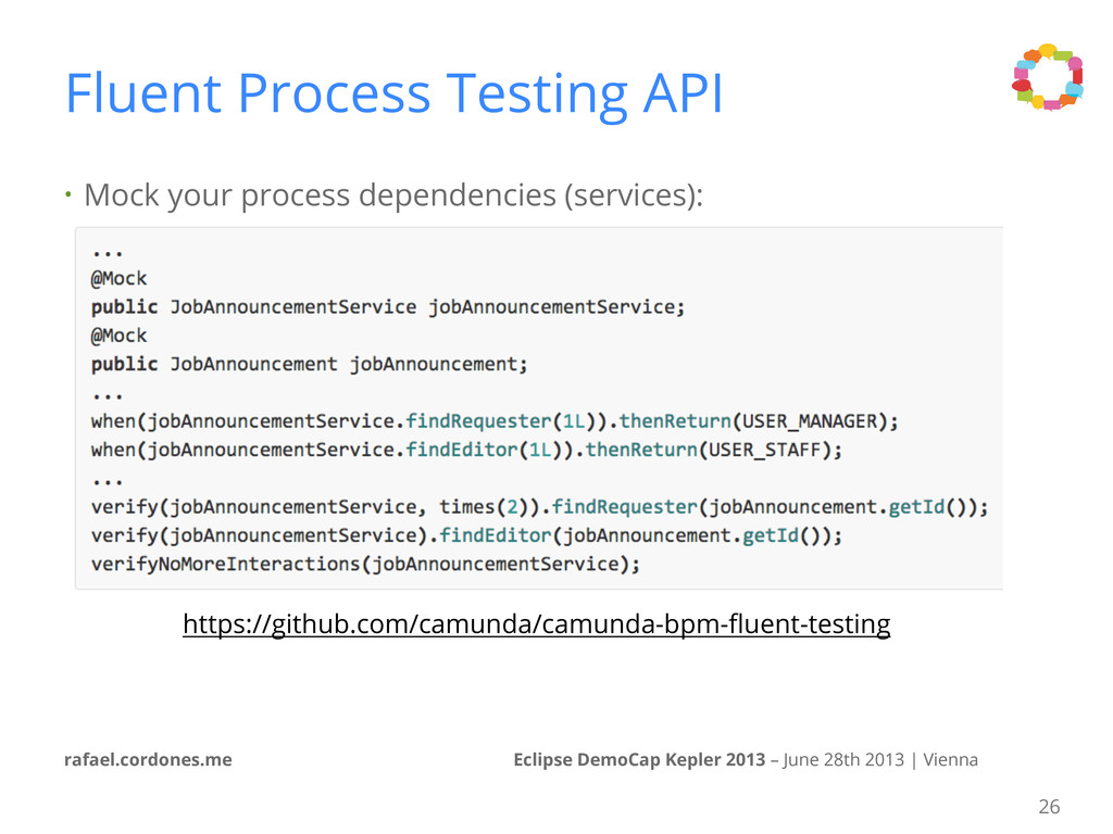 • Mock your process dependencies (services): Ec...